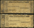 Castine (Maine District), MA- Castine Bank $5 1817-18 Two Examples Fine. ... (Total: 2 notes)