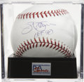 "Autographs:Baseballs, Jim Palmer ""HOF 90"" Single Signed Baseball Gem Mint PSA 10. Agorgeous sweet spot signature from the Hall of Fame pitcher, ..."