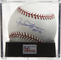 "Autographs:Baseballs, Rollie Fingers ""HOF 92"" Single Signed Baseball Gem Mint PSA 10. Atthe time of his retirement, Rollie Fingers was the fines..."