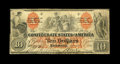 Confederate Notes:1861 Issues, T22 $10 1861. Cr.152 PF-2 CC.. ...