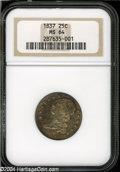 Bust Quarters: , 1837 MS64 NGC. ...