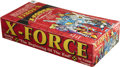 Memorabilia:Trading Cards, X-Force Trading Cards Unopened Wax Pack Box (Comic Images,1991)....