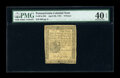Colonial Notes:Pennsylvania, Pennsylvania April 20, 1781 9d PMG Extremely Fine 40 EPQ....