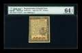 Colonial Notes:Pennsylvania, Pennsylvania April 10, 1777 6d PMG Choice Uncirculated 64 EPQ....