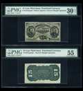 Fractional Currency:Third Issue, Fr. 1274SP 15c Third Issue Narrow Margins PMG Very Fine 30 EPQ. Fr. 1272SP 15c Third Issue Narrow Margins PMG About Uncirculat... (Total: 2 notes)