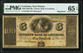 Obsoletes By State:Louisiana, New Orleans, LA- Citizens' Bank of Louisiana $100 18__ Remainder PMG Gem Uncirculated 65 EPQ.. ...