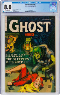 Ghost #6 (Fiction House, 1953) CGC VF 8.0 Off-white pages