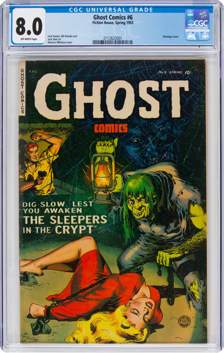 Ghost #6 (Fiction House, 1953) CGC VF 8.0 Off-white pages....