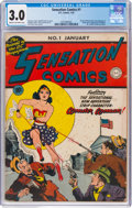 Golden Age (1938-1955):Superhero, Sensation Comics #1 (DC, 1942) CGC GD/VG 3.0 Cream to off-white pages....