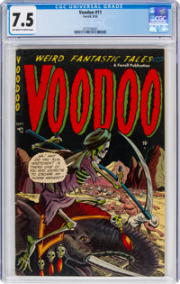 Voodoo #11 (Farrell, 1953) CGC VF- 7.5 Off-white to white pages