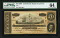 Confederate Notes:1864 Issues, T67 $20 1864 PF-14 Cr. 514 PMG Choice Uncirculated 64.. ...