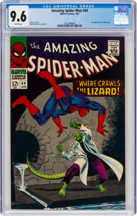 The Amazing Spider-Man #44 (Marvel, 1967) CGC NM+ 9.6 White pages