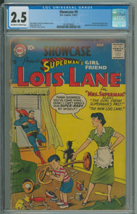 Showcase 9 Superman's Girlfriend Lois Lane (DC, 1957) CGC GD+ 2.5 Off-white to white pages