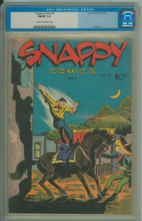 Snappy Comics #1 (Cima Publ. Co. (Prize Publ.), 1945) CGC FN/VF 7.0 Cream to off-white pages