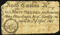 North Carolina April 4, 1748 40s Fine