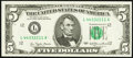 Fancy Serial Number 44332211 Fr. 1974-L $5 1977 Federal Reserve Note. Choice Crisp Uncirculated