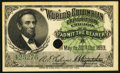 World's Columbian Exposition Lincoln Ticket 1893 Choice About Uncirculated, HPC