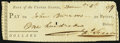 (Philadelphia, PA)- Bank of the United States (First) Check $100 Dec. 5, 1797 Extremely Fine, cut cancelled