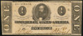 Confederate Notes:1862 Issues, T55 $1 1862 Fine-Very Fine.. ...