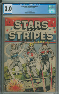 Stars and Stripes Comics #5 (Centaur, 1941) CGC GD/VG 3.0 Off-white to white pages