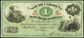 Charleston, SC- South Carolina Rail Road Company $1 July 1, 1873 Crisp Uncirculated