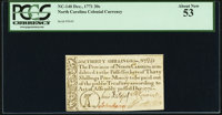 North Carolina December, 1771 30s PCGS About New 53