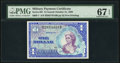 Series 661 $1 First Printing PMG Superb Gem Uncirculated 67 EPQ