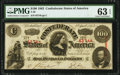 Confederate Notes:1863 Issues, T56 $100 1863 PMG Choice Uncirculated 63 EPQ.. ...