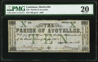Marksville, LA- Parish of Avoyelles $10 Dec. 26, 1862 PMG Very Fine 20