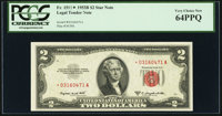 Fr. 1511* $2 1953B Legal Tender Note. PCGS Very Choice New 64PPQ