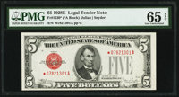 Fr. 1530* $5 1928E Legal Tender Note. PMG Gem Uncirculated 65 EPQ