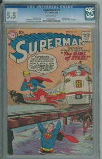 Superman #123 (DC, 1958) CGC FN- 5.5 Off-white pages