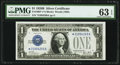 Fr. 1602* $1 1928B Silver Certificate. PMG Choice Uncirculated 63 EPQ