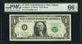 Fr. 1908-F* $1 1974 Federal Reserve Note. PMG Gem Uncirculated 66 EPQ