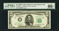 Fr. 1963-J* $5 1950B Federal Reserve Note. PMG Gem Uncirculated 66 EPQ