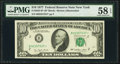 Fr. 2023-B* $10 1977 Federal Reserve Note. PMG Choice About Unc 58 EPQ