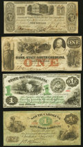 Charleston, SC- Bank of the State of South Carolina $1 June 8, 1861; Jan. 6, 1862 Fine or Better; Charleston, SC- Sou...