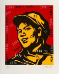 Prints & Multiples, Wang Guangyi (b. 1957). Belief Girl No. 6, 2006. Lithograph in colors on paper. 24-3/4 x 19-3/4 inches (62.9 x 50.2 cm) ...