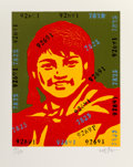 Prints & Multiples, Wang Guangyi (b. 1957). Belief Girl No. 2, 2006. Lithograph in colors on paper. 24-3/4 x 19-3/4 inches (62.9 x 50.2 cm) ...