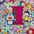 Prints & Multiples, Takashi Murakami (b. 1962). We Came to the Field of Flowers Through Anywhere Door (Dokodemo Door)!, 2018. Offset lithogr...