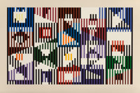 Yaacov Agam (b. 1928) Untitled, late 20th century Screenprint in colors on wove paper 25-3/4 x 38-5/8 inches (65.4 x