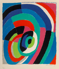 Sonia Delaunay (1885-1979) L'oeil, late 20th century Lithograph in colors on wove paper 29-3/4 x