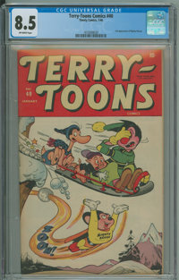 Terry-Toons Comics #40 (Timely, 1946) CGC VF+ 8.5 Off-white pages