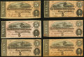 Confederate Notes:1864 Issues, T69 $5 1864 Six Examples Fine or Better.. ... (Total: 6 notes)