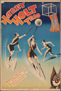 """Movie Posters:Sports, Harry Holt Trio (1930s) Fine+ on Linen. Russian Poster (22"""" X 33""""). Sports. . ..."""