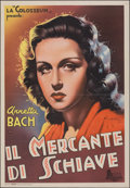 "Movie Posters:Foreign, Merchant of Slaves (Industrie Cinematografiche Italiane, 1942). Very Fine on Linen. Italian Foglio (27"" X 34""). Foreign.. ..."