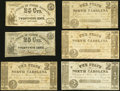 Raleigh, NC- State of North Carolina 25¢ (2); $2 (4) 1861-63 Fine or Better