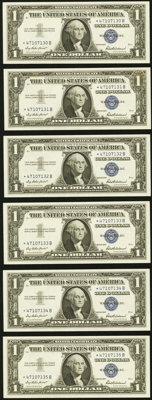 Fr. 1619* $1 1957 Silver Certificates. Six Consecutive Examples. Gem Crisp Uncirculated. ... (Total: 6 notes)