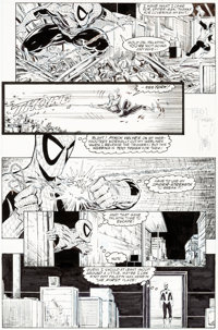 Todd McFarlane Amazing Spider-Man #320 Story Page 8 Original Art (Marvel, 1989)