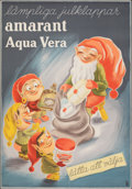 """Movie Posters:Foreign, Amarant Aqua Vera (1940s). Fine+ on Chartex. Swedish Advertising Poster (27.25"""" X 39.25""""). Foreign. . ..."""